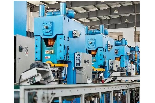 Progressive die stamping production line